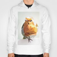 polygon Hoodies featuring Polygon Robin by Andrew Mason