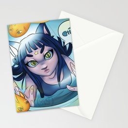Starcat Girl Stationery Cards