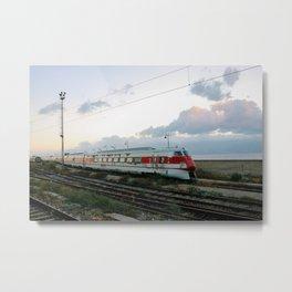 Abandoned train in Reggio Calabria, Italy Metal Print