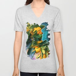 Small fruit tree in outer space Unisex V-Neck