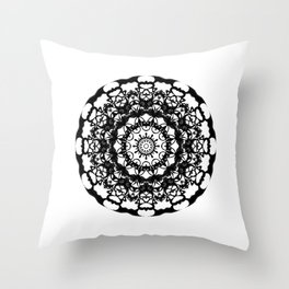 Solar Plexus Mandala Throw Pillow