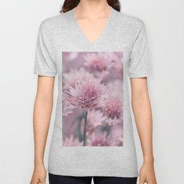 Allium pink 0146 Unisex V-Neck