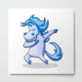 Dabbing Unicorn - Dab Hip Hop Funny Magic Metal Print