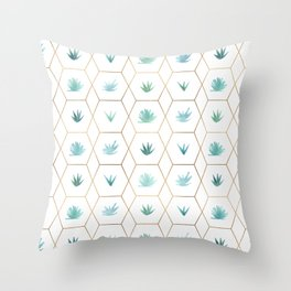 Geometric Succulents Throw Pillow