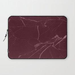modern burgundy marble look Laptop Sleeve