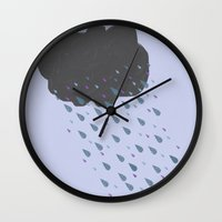 cloud Wall Clocks featuring Cloud by BlackBlizzard
