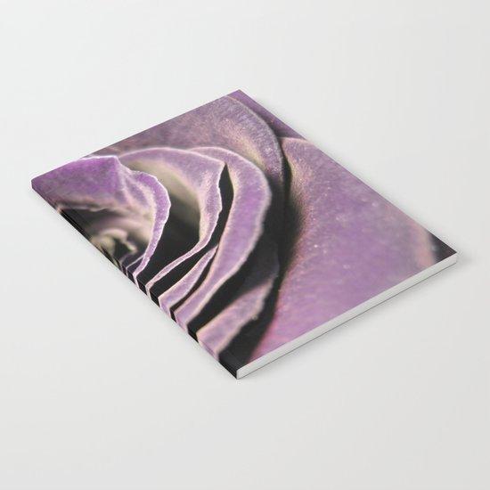Purple velvet rose Notebook