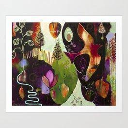 """Deep Peace"" Original Painting by Flora Bowley Art Print"