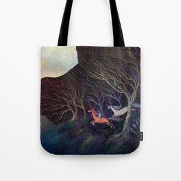 Adventures in the Dark Woods Tote Bag
