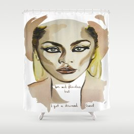 I´m not flawless Shower Curtain