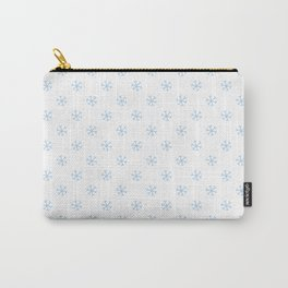 Baby Blue on White Snowflakes Carry-All Pouch