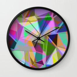 geomeric shapes Wall Clock