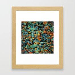Abstract Geometric Multi-Color Blending Weird Texture Background #10 Framed Art Print