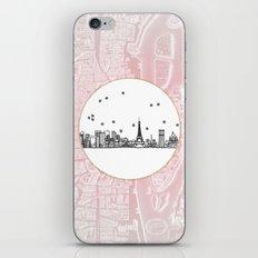 Paris, France, France, Europe City Skyline Illustration Drawing iPhone & iPod Skin