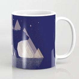 Moon Bear - Geometric, bear shirt, stars, mountains, animal t shirt, animal print t shirt, wildlife Coffee Mug