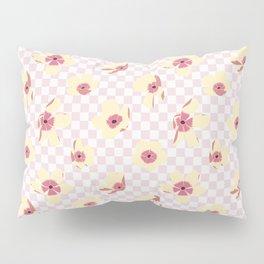 Butterfly Ranunculus on Checkerboard Pillow Sham