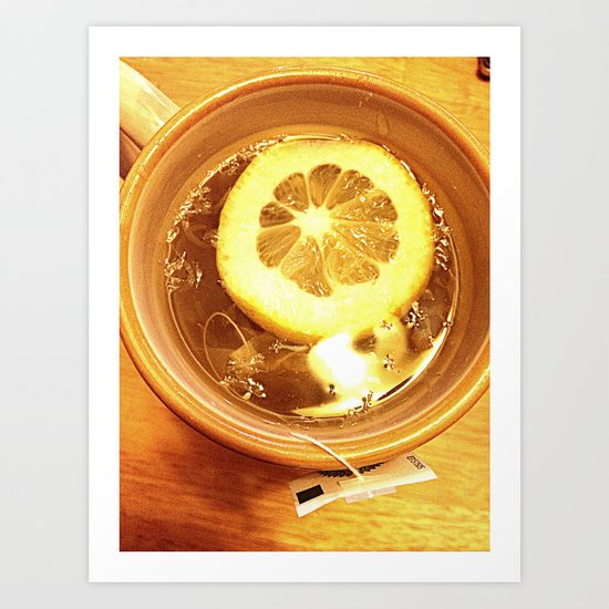 Lemon tea Art Print