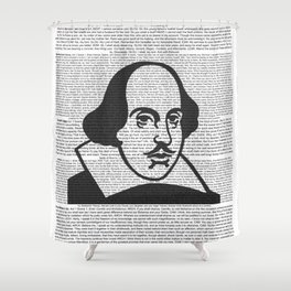 Words of Shakespeare Shower Curtain