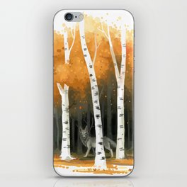 Autumn Wolf iPhone Skin