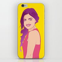 pretty little liars iPhone & iPod Skins featuring Pretty little liars - Lucy Hale by Lais Design