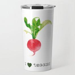 Radish - I love veggies Travel Mug