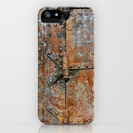 Rusty metal door details iPhone Case