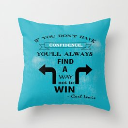 Carl Lewis American former track and field athlete player Sports quote Throw Pillow