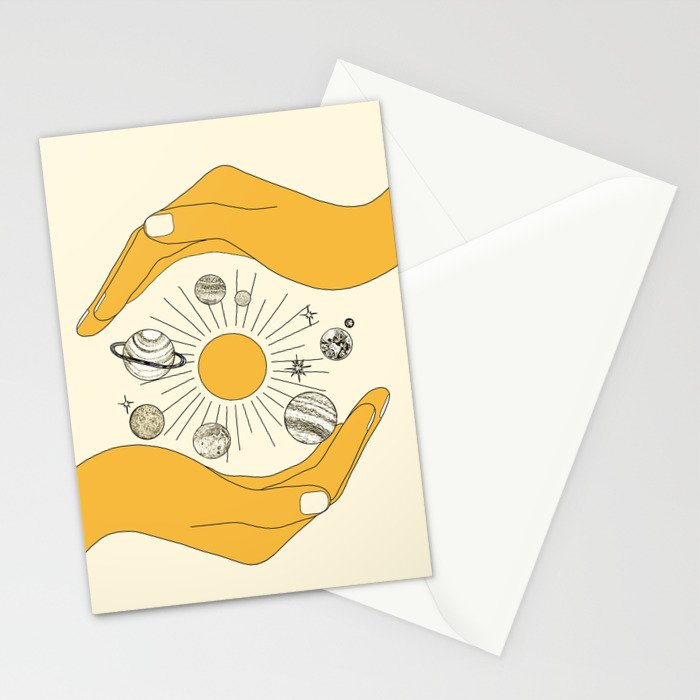 The Universe in Your Hands Stationery Cards