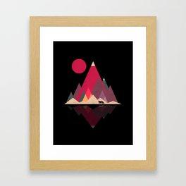 Fox Lands Nature Geometric Sun Framed Art Print