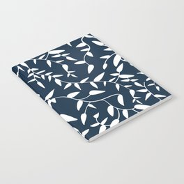 Botanical in navy Notebook