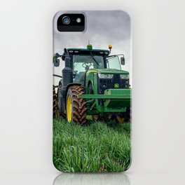 Tractor in a wheat field  iPhone Case