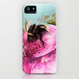 Bee on flower 17 iPhone Case