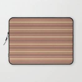 Cavern Clay SW 7701 and Accent Colors Thick and Thin Horizontal Lines Bold Stripes 2 Laptop Sleeve