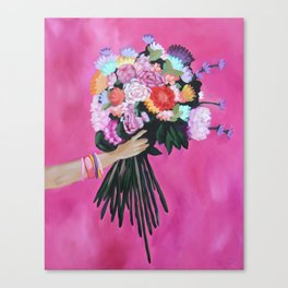 Rainbow Posy Canvas Print