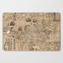 Map Of Nagasaki 1764 Cutting Board