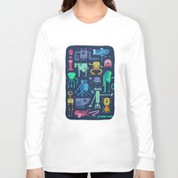 robots Long Sleeve T-shirts featuring Robots by okionero