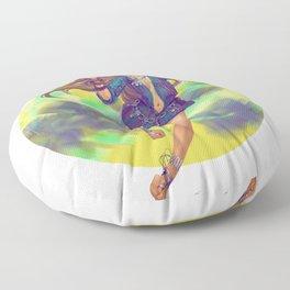 Hippie Girl Floor Pillow