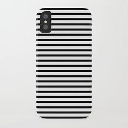 White Black Stripe Minimalist iPhone Case