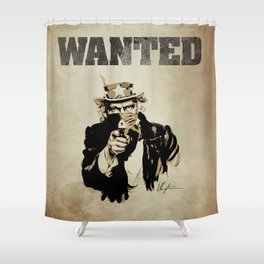 Wanted Poster Shower Curtain