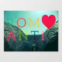romantic Canvas Prints featuring ROMANTIC by famenxt