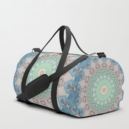 Earth Tone Pastels Mandala Duffle Bag