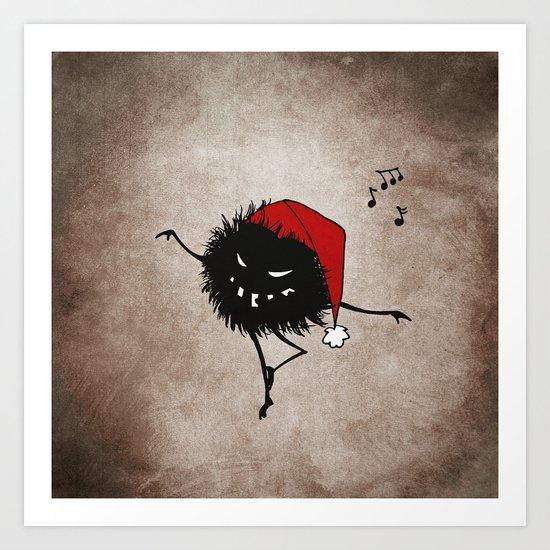Dark Evil Christmas Bug Art Print