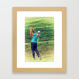 The Golf Swing Framed Art Print