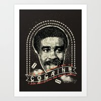 cocaine Art Prints featuring Cocaine by Geekleetist
