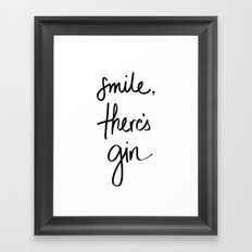 Smile - Gin Framed Art Print