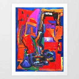 Metropolis Öl auf Leinwand Art Print