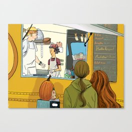 Keep on (Food) Truckin' Canvas Print