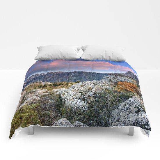 """Mountain Light"". Sunset at the Alayos. Comforters"
