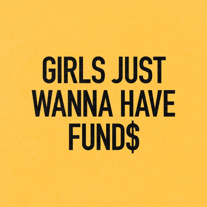 Girls just wanna have funds Duvet Cover