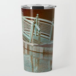 Bridge in a pond Travel Mug